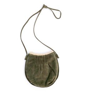 WILSONS LEATHER Women's Suede Green Crossbody Bag